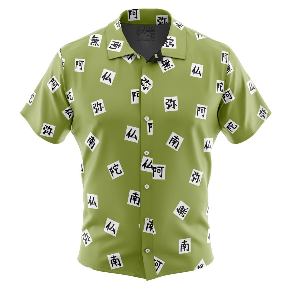 Vintage 90s Polyester Anime Button Up Shirt. Manga. Kawaii